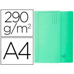 Subcarpeta Cartulina Reciclada A4 Exacompta con bolsa Verde 290 gr