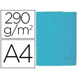 Subcarpeta Cartulina Reciclada A4 Exacompta con bolsa Celeste 290 gr