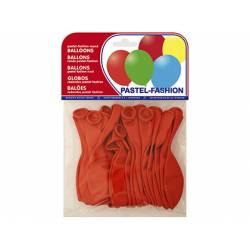 Globos Pastel Rojo Bolsa de 20 unidades