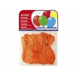 Globos Pastel Naranja Bolsa 20 unidades