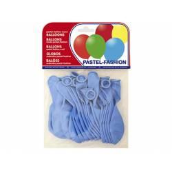 Globos Pastel Azul Bolsa 20 unidades