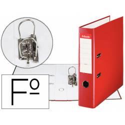 Archivador de Palanca Esselte Carton Forrado Folio Lomo de 75 mm Rojo