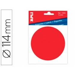 Etiqueta adhesiva Apli Punto rojo