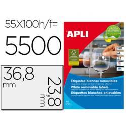 Etiqueta adhesiva Apli 36,8 X 23,8
