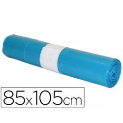 Bolsa basura azul 85x105cm industrial galga 110 rollo 10 unidades