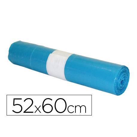 Bolsa basura domestica azul 52x60cm galga 70 rollo de 20 unidades