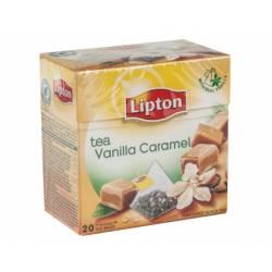 Infusion de te en piramides vainilla caramelo Lipton