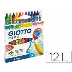 Lapices cera Giotto 12 unidades colores surtidos