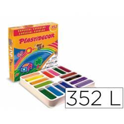 Lapices cera Plastidecor caja de 352 unidades