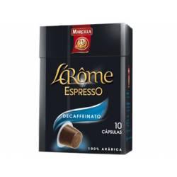 Cafe L´Arome Espresso decaffeinato Marcilla Fuerza 6