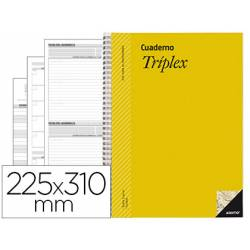 Bloc triplex marca Additio evaluacion continua con agenda