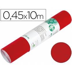 Rollo adhesivo Liderpapel Aironfix ante rojo