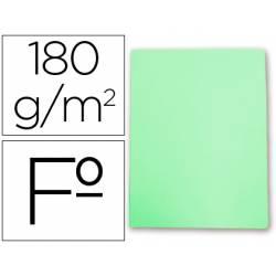 Subcarpetas cartulina Gio folio verde pastel 180 g/m2