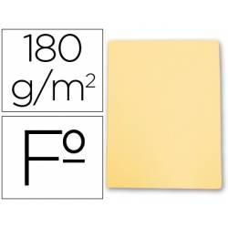 Subcarpetas cartulina Gio folio amarillo pastel 180 g/m2