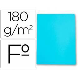 Subcarpetas cartulina Gio folio azul celeste pastel 180 g/m2