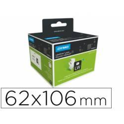 Etiqueta identificadora Dymo tamaño 62x106 mm para impresora labelwriter 250 etiquetas