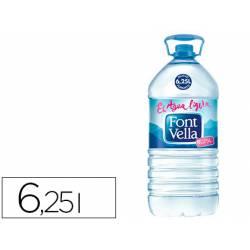 Agua mineral natural Font Vella botella de 6,25L