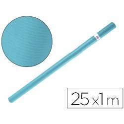 Bobina papel kraft Liderpapel 25 x 1 m azul turquesa