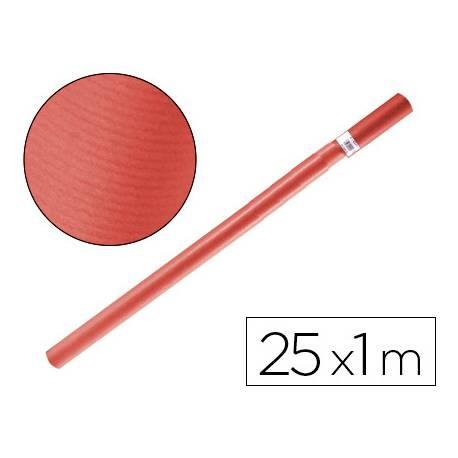 Bobina papel kraft Liderpapel 25 x 1 m rojo