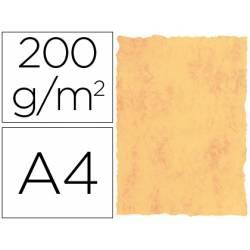 Cartulina pergamino DIN A4 amarillo marmol