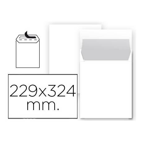 Sobre bolsa Liderpapel C4 Blanco Caja 25