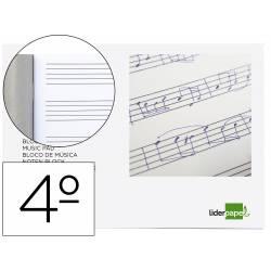 Bloc musica Liderpapel Cuarto interlineado 5mm