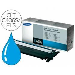 Toner original Samsung CLT-C406S/ELS Cian