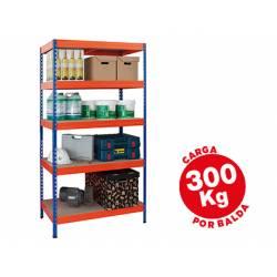 Estantería AR Storage metálica 5 estantes 300 kg
