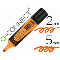 Rotulador Q-connect fluorescente naranja