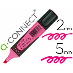 Rotulador Q-connect fluorescente rosa