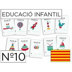 Cuaderno Rubio Educació Infantil nº 10 Desarrollo motriz Catalán
