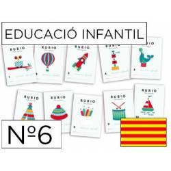 Cuaderno Rubio Educació Infantil nº 6 Desarrollo motriz Catalán