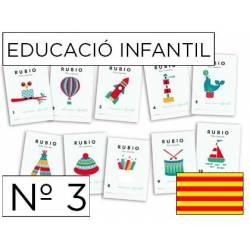 Cuaderno Rubio Educació Infantil nº 3 Desarrollo motriz Catalán
