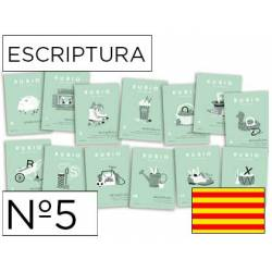 Cuaderno Rubio Escriptura nº 5 Mayúsculas, dibujos, números y grecas Catalán