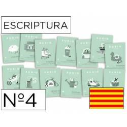 Cuaderno Rubio Escriptura nº 4 Minúsculas, dibujos, números y grecas Catalán