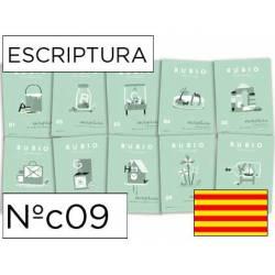 Cuaderno Rubio Escriptura nº 09 Dibujos para seguir y colorear Catalán