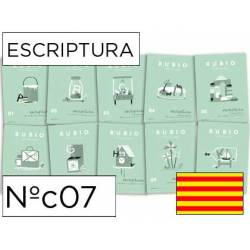 Cuaderno Rubio Escriptura nº 07 Recapitulación e iniciación de Mayúsculas Catalán