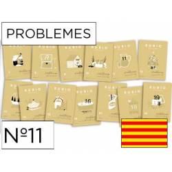 Cuaderno Rubio Problemes nº 11 Sumar, restar y multiplicar por una cifra Catalán
