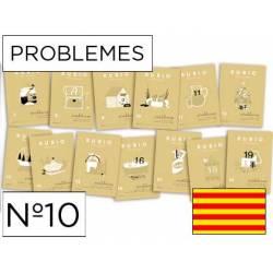 Cuaderno Rubio Problemes nº 10 Sumar, restar y multiplicar por una cifra Catalán