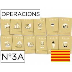 Cuaderno Rubio Operacions nº 3A Multiplicar por varias cifras Catalán