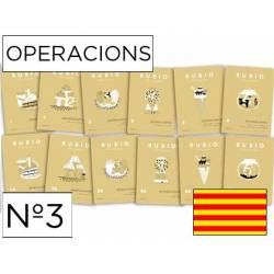 Cuaderno Rubio Operacions nº 3 Multiplicar por una cifra Catalán