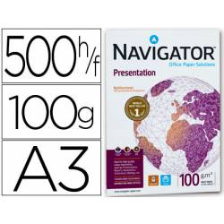 Papel fotocopiadora Navigator A3 100 gr 500 Hojas