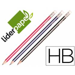 Lapices de grafito triangular HB Liderpapel