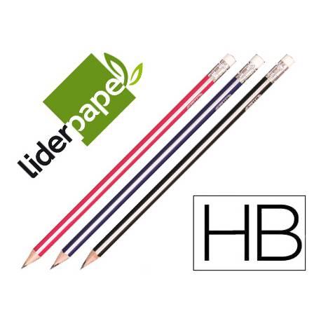 Lapices de grafito triangular HB Liderpapel
