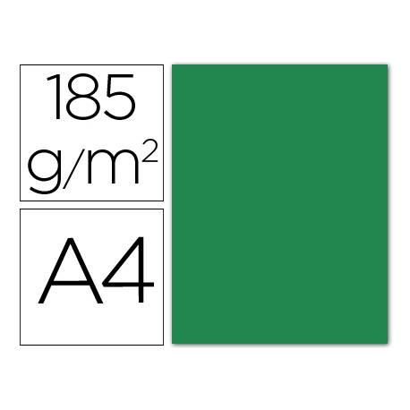 Cartulina Guarro din A4 verde amazona 185 gr paquete 50 hojas