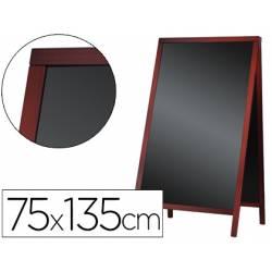 Pizarra Liderpapel negra madera para suelo 75x135x52 cm