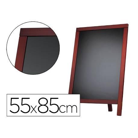 Pizarra Liderpapel negra madera para suelo 55x85 cm