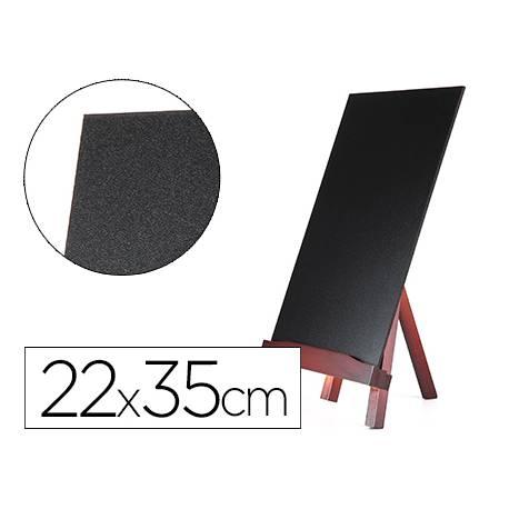 Pizarra Liderpapel caballete negra madera 22x35 cm