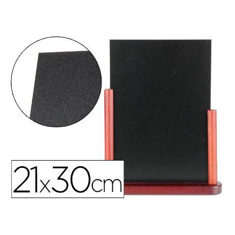 Pizarra sobremesa Liderpapel negra madera 21x30 cm