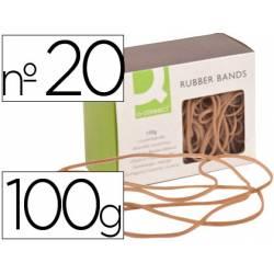 Gomillas elasticas Q-connect 100 gr numero 20